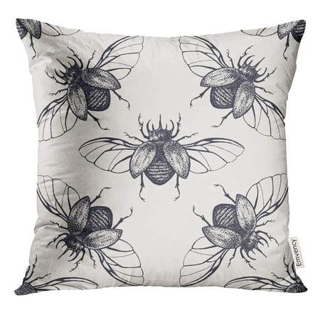 USART Bug Beetles with Wings Vintage Halloween Pillow Case 18x18 Inches Pillowcase](Halloween Beetles)