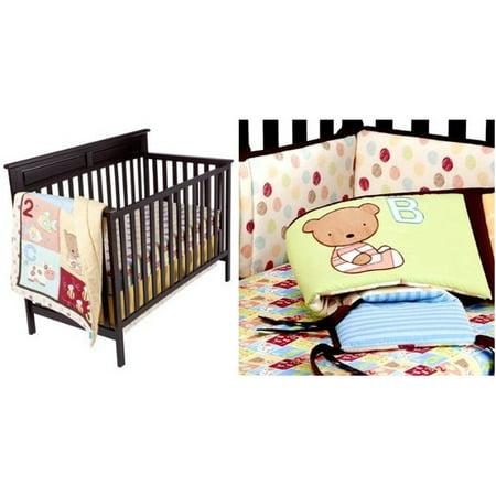 Tiddliwinks Abc 123 4 Piece Crib Bedding Set