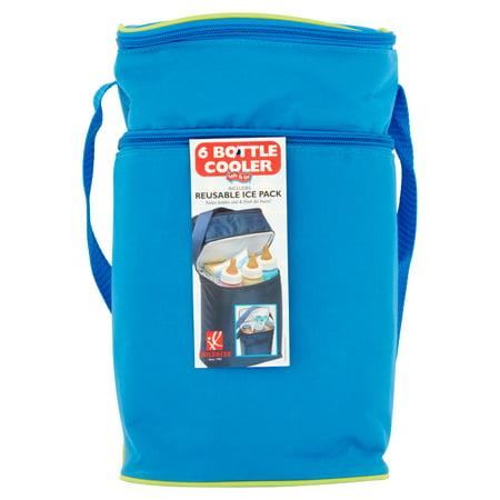 JL Childress 6-Bottle Baby Bottle Cooler Bag, Blue