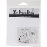 """Two Paper Divas Clear Stamps 6""""X4.5""""-Some Bunny"""
