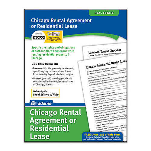 Adams Business Forms Residential Lease Chicago Forms and Instruction (Set of 6) (Set of 288)
