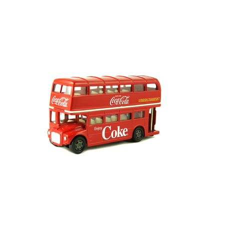 Coca-Cola 1/64 Scale Routemaster London Double Decker Diecast Tour Bus (Collectible Toy