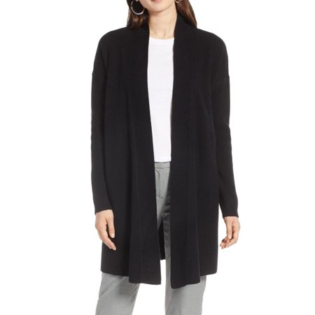 Women's Open Front Drape Wool Cashmere Cardigan