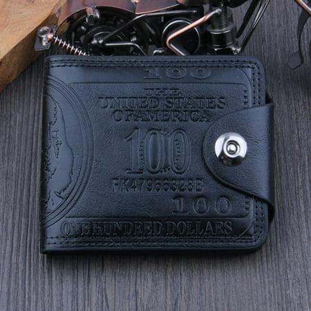 US Dollar Bill Wallet Brown Leather Wallet Bifold Credit Card