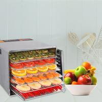 Goplus 10 Tray Food Dehydrator Stainless Steel Fruit Jerky Dryer Blower Commercial