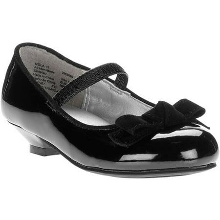 38162887c77911 George - Toddler Girl's Nora Bow Low Heel Dress Shoes - Walmart.com