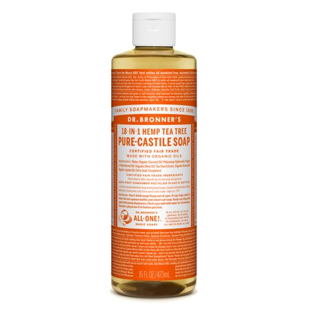 Dr. Bronner's Tea Tree Pure-Castile Liquid Soap - 16 (The Body Shop Tea Tree Mattifying Face Lotion)