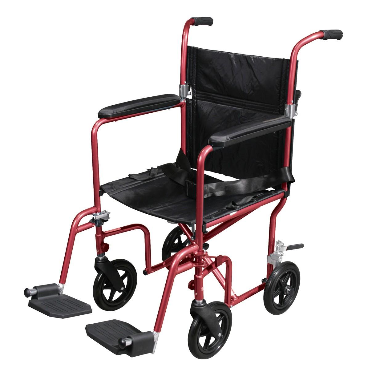 Drive Aluminum Transport Chair, 17 inch