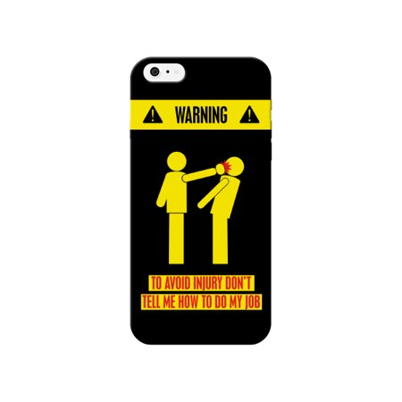 best value c6ee4 0cce5 iCandy Products Black & Yellow Dont Tell Me How to Do my Job Phone Case for  the Iphone 5 / 5s Back Cover Cases