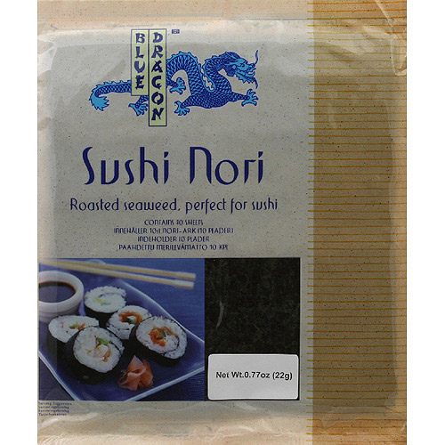 Blue Dragon Sushi Nori Roasted Seaweed, 0.77 oz, (Pack of 10)