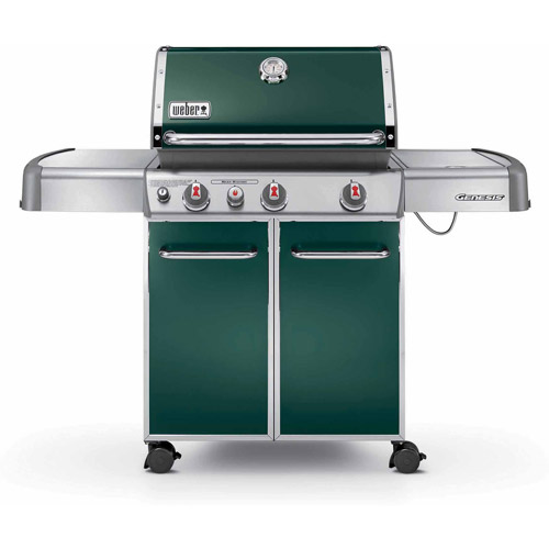 Weber Genesis E-330 38,000 BTU 3-Burner Gas Grill with Side Burner, Green