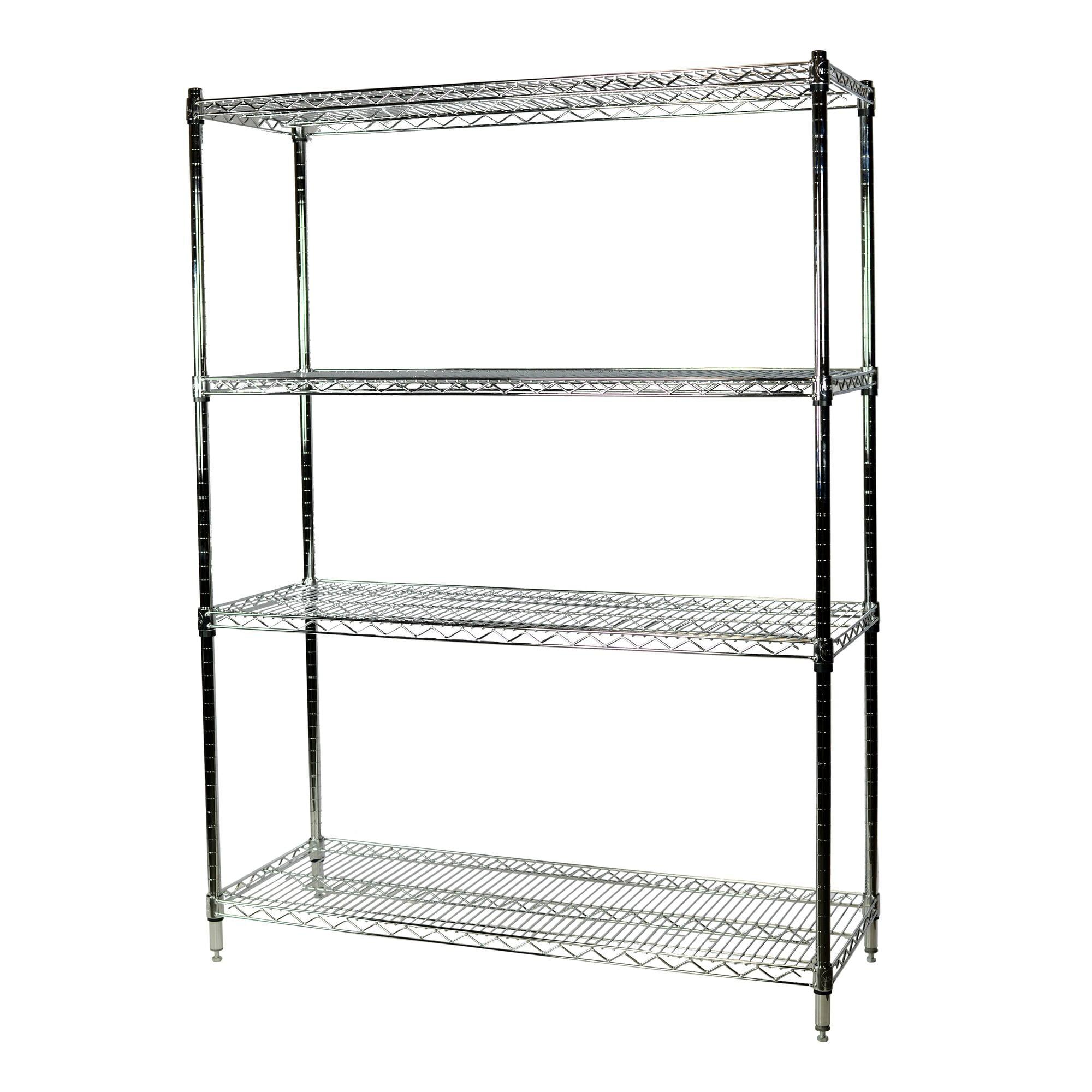 Storage Max Chrome Wire Shelving Unit, 18 x 36 x 74, 4 Shelves