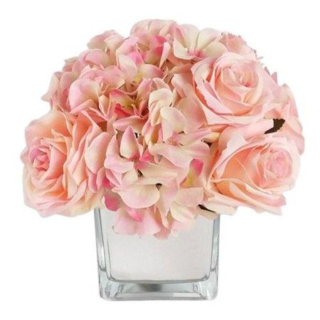 Mixed Vase Arrangement (RG Style Artificial Silk Mixed Floral Arrangements in Decorative)