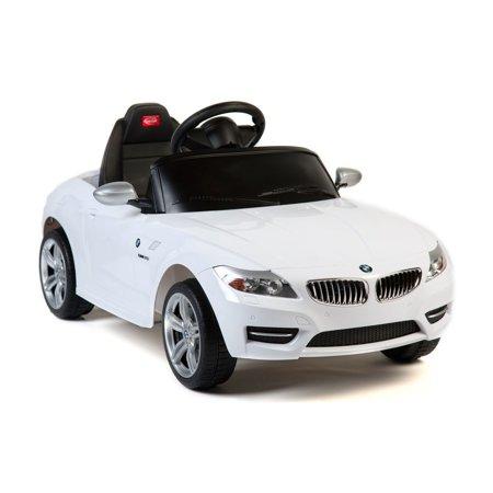 Licensed Bmw Z 4 6V Kids Battery Powered Ride On Car   White