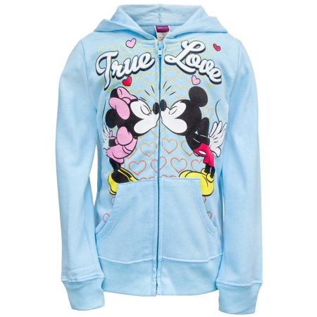 Mickey Mouse - True Love Girls Juvy Zip Hoodie - Juvy 4 Womens Old School Knit Hooded