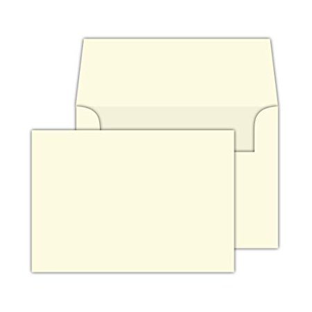 Cream/Natural/Off White, Heavy Blank Note Cards and Envelopes Size 5 X 7-50 Per Pack. - This Is Not a Fold Over Card. (Ivory)
