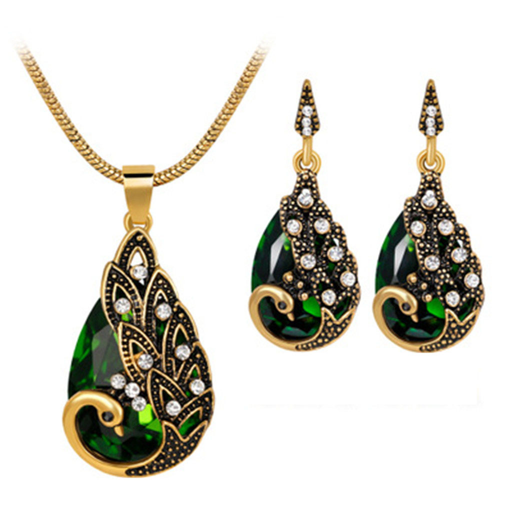 Set of pendant and earrings Jewelry set Women wooden jewell green set of earrings and necklace Maple leafs Original jewelry Christmas  gift