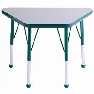 """18x30"""" Trapezoid Table-Color:Grey-Green,Glide:Standard Swivel"""