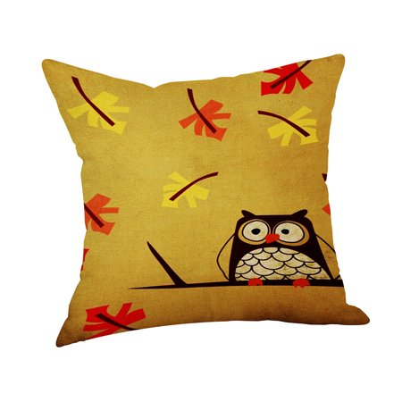 Happy Fall Thanksgiving Day Linen Turkey Pillow Case Cushion Cover Home Decor](Hippy Home Decor)