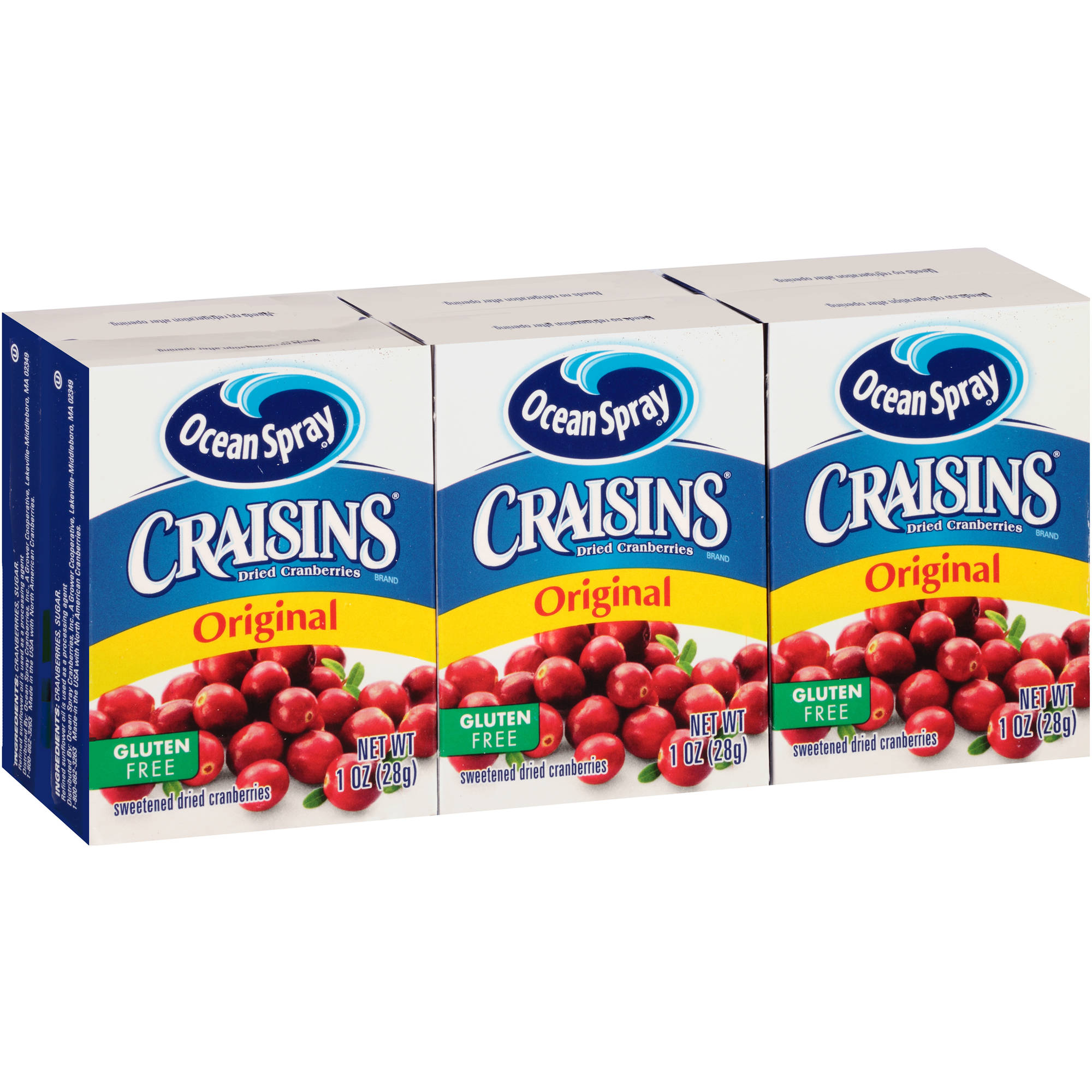 Craisins Original Dried Cranberries, 1 oz, (Pack of 6)