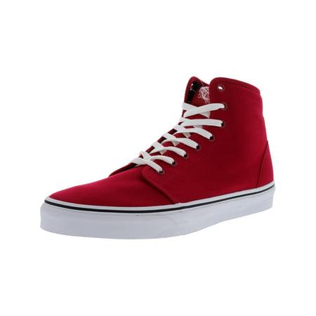 eac2309530 Vans - Vans Men s 106 Hi Red   True White High-Top Canvas Skateboarding  Shoe - 12M - Walmart.com