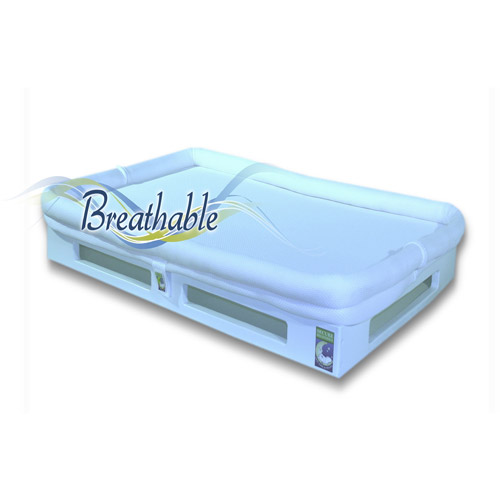 Mini SafeSleep Breathable Crib Mattress, White by Secure Beginnings