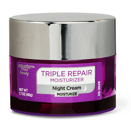 Equate Beauty Triple Repair Moisturizer Night Cream, Compare to Neutrogena, 1.7 oz.