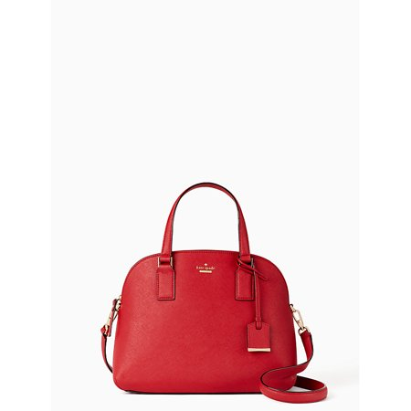 Kate Spade New York Cameron Street Lottie Satchel in Heirloom Red Brocade Red Bag