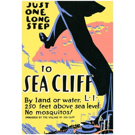 Sea Cliff Long Island NY Tourism Travel Vintage Ad Poster Print Poster - 13x19 - Party City Long Island Ny
