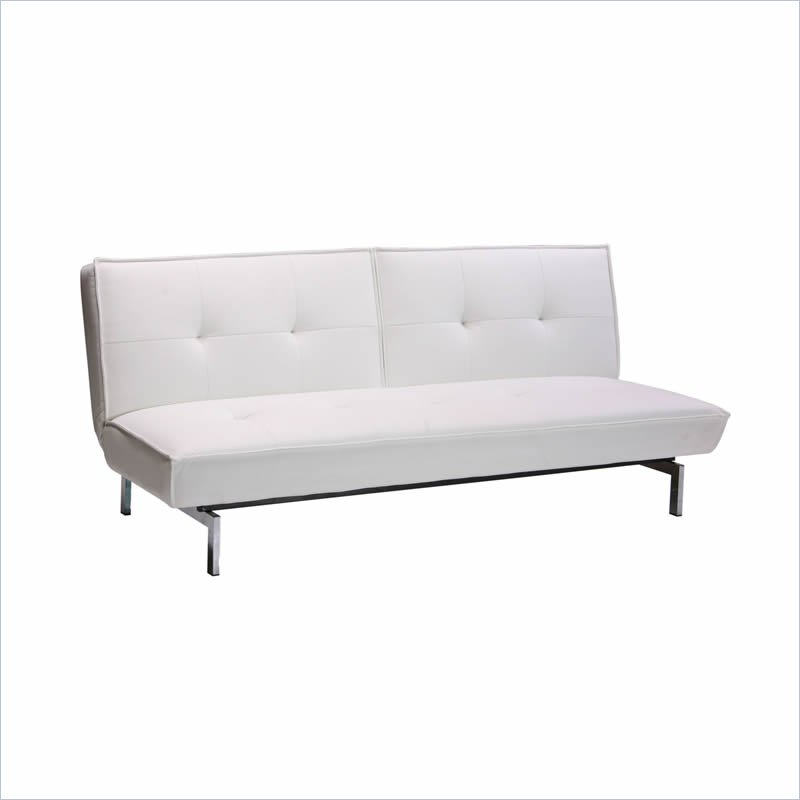 Charmant DHP Revolution Belle Leather Convertible Sofa In White
