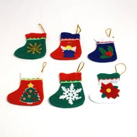 Decorated Mini Felt Christmas Stockings