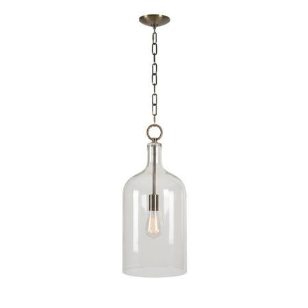 - Capri Anitque Brass 1 Light Pendant