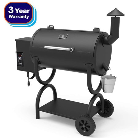 Z GRILLS Wood Pellet BBQ Grill and Smoker with Digital Temperature Controls...