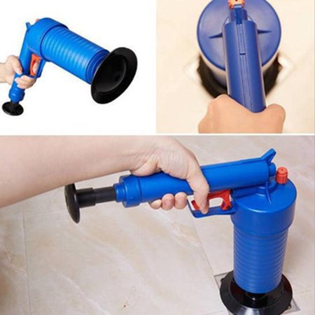 Toilets Bathroom High Pressure Air Drain Pump Plunger Sink Pipe Clog Remover Cleaner Kit - image 5 de 6