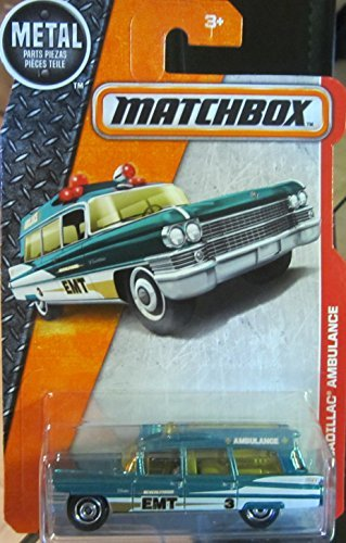- 2016 MBX Heroic Rescue '63 Cadillac Ambulance 88 125 by, By Matchbox by