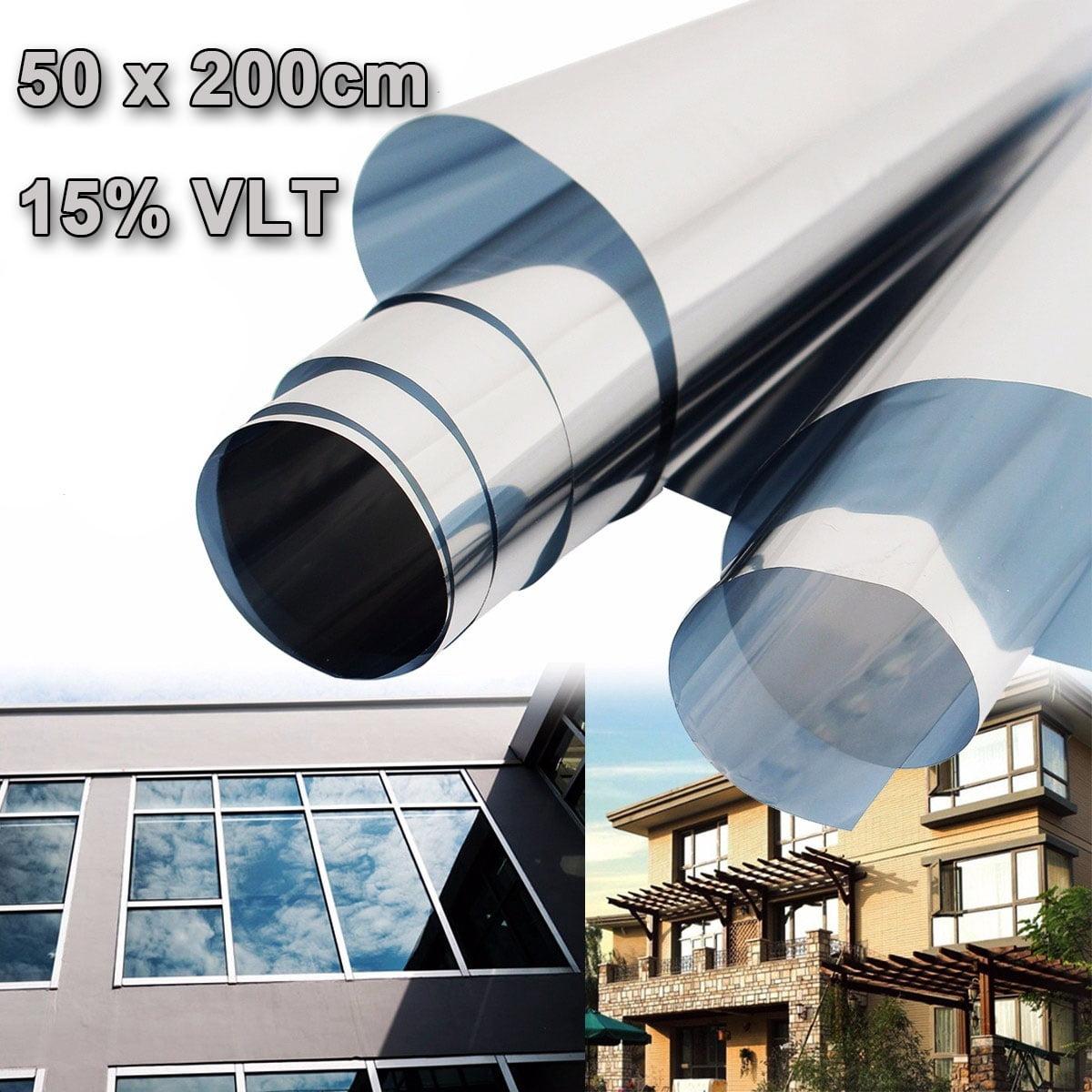 15% UV Solar Reflective Transmittance Insulation Sticker Window Film One Way Type Mirror 50cmx2m Silver