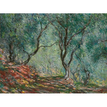 Landscape Wall Pocket - Olive Trees in the Moreno Garden, 1884 Impressionist Botanical Landscape Painting Print Wall Art By Claude Monet