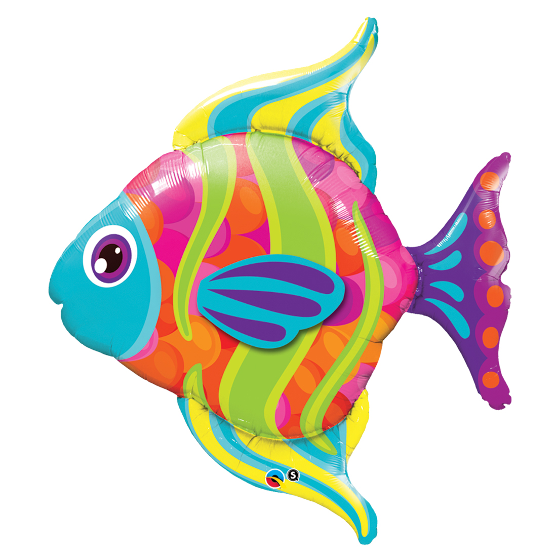 "Qualatex Super Tropical Fashionable Fish Giant 43"" Foil Balloon"
