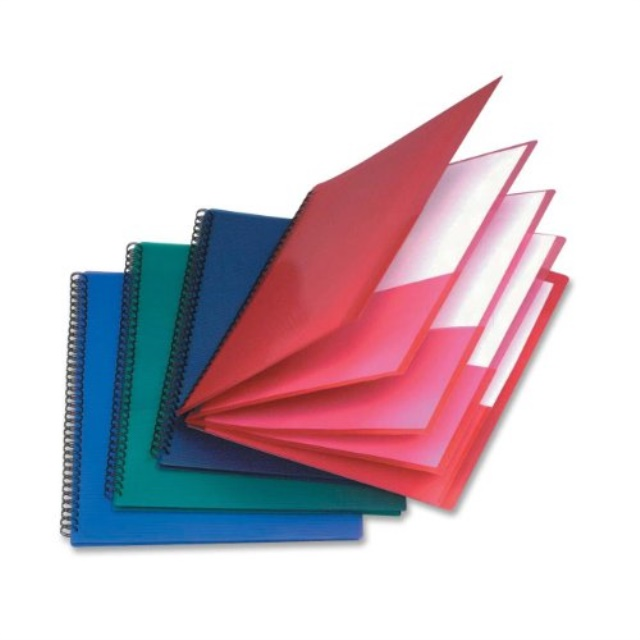 Letter Oxford 8 Pocket Folder Assorted Colors 11 x 8-1//2 Inches