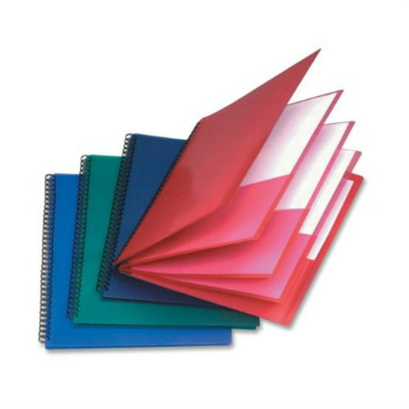 Esselte Coloured Pocket - esselte oxford poly 8-pocket folder - letter size - 9.1 x 10.6 x 0.4 (colors may vary)