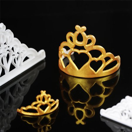 Fondant Cake Cookies Crown Chocolate Mold Silicone Mold Decorative Baking Tools (Mold Crown Silicone)