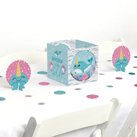Narwhal Girl - Under The Sea Baby Shower or Birthday Party Centerpiece and Table Decoration Kit ](Under The Sea Table Decorations)