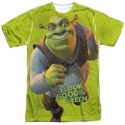 Shrek Animated Family Comedy Movie Look Good in Green Adult 2-Sided Print TShirt