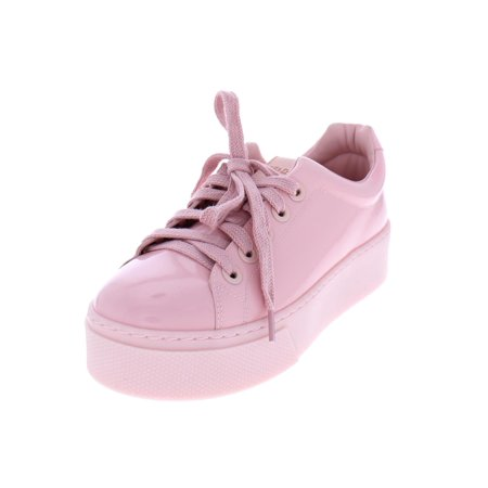 (Kenzo Womens Patent Leather Flatform Fashion Sneakers)
