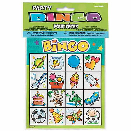 Kids Bingo Game for 8 - Fitness Bingo