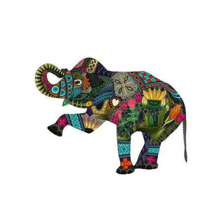 Asian Elephant Print Wall Art By Sharon Turner