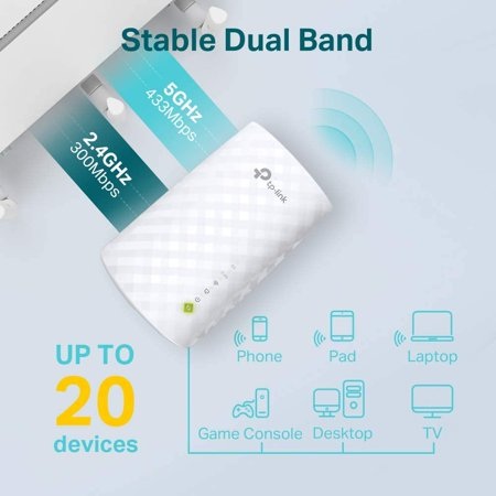 TP-Link AC750 WiFi Extender RE220 - Dual Band Range Extender, Repeater, WiFi  Signal Booster, Access Point, Easy Set-Up, Covers Up to 1200 Sq.ft and 20  Devices, Up to 750Mbps | Walmart Canada