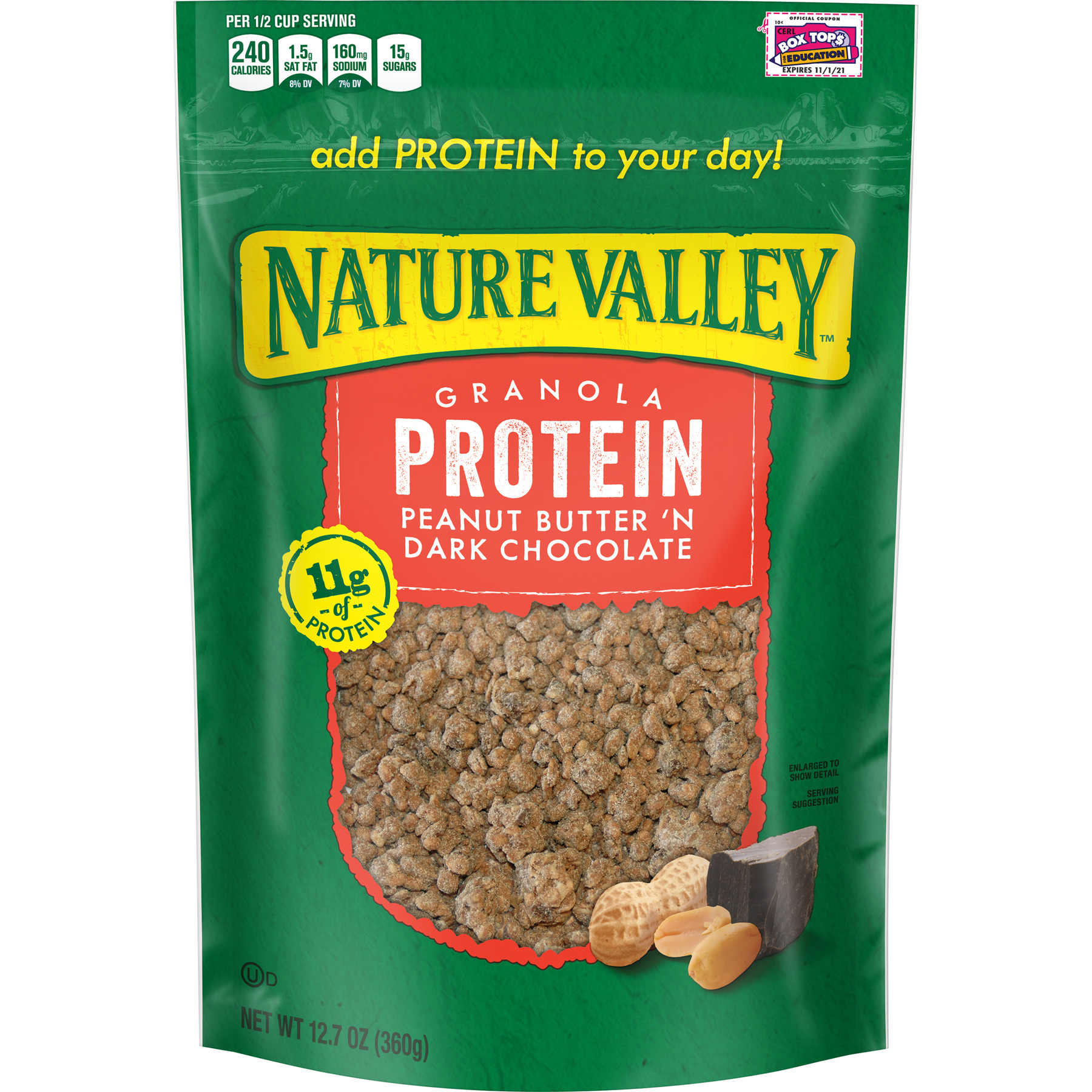 Nature Valley Protein Peanut Butter 'N Dark Chocolate Cereal, 12.7 oz