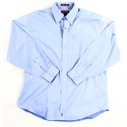 Nordstrom NEW Blue Mens Size 16 Solid Button-Down Pocket Dress Shirt