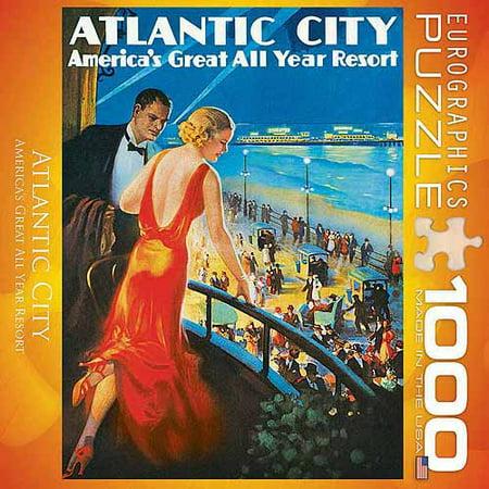 EuroGraphics Atlantic City 1000-Piece Puzzle, Small - Party City Atlantic